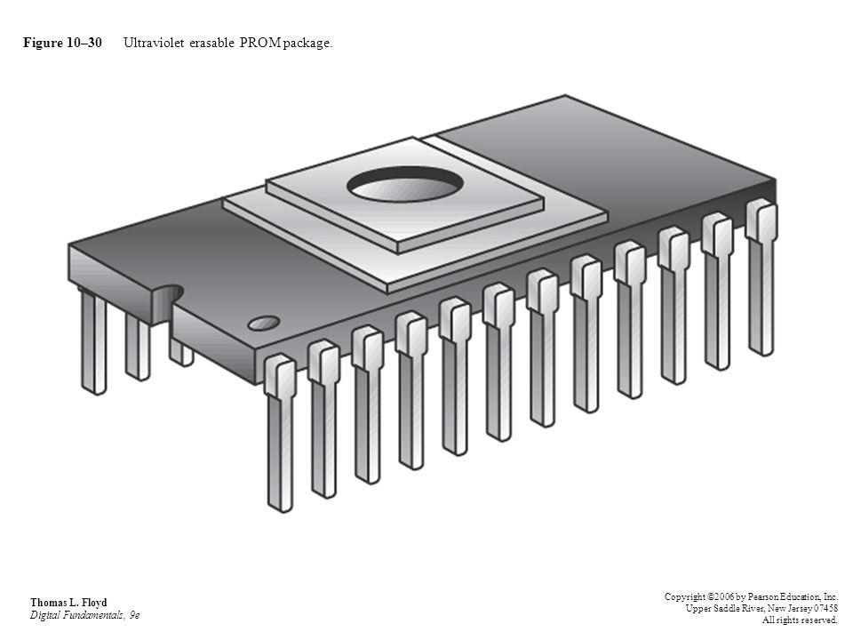 Figure 10–30 Ultraviolet erasable PROM package. Thomas L. Floyd Digital Fundamentals, 9e Copyright ©2006 by Pearson Education, Inc. Upper Saddle River