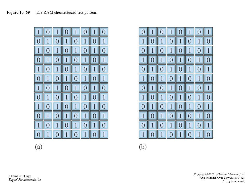 Figure 10–69 The RAM checkerboard test pattern. Thomas L. Floyd Digital Fundamentals, 9e Copyright ©2006 by Pearson Education, Inc. Upper Saddle River