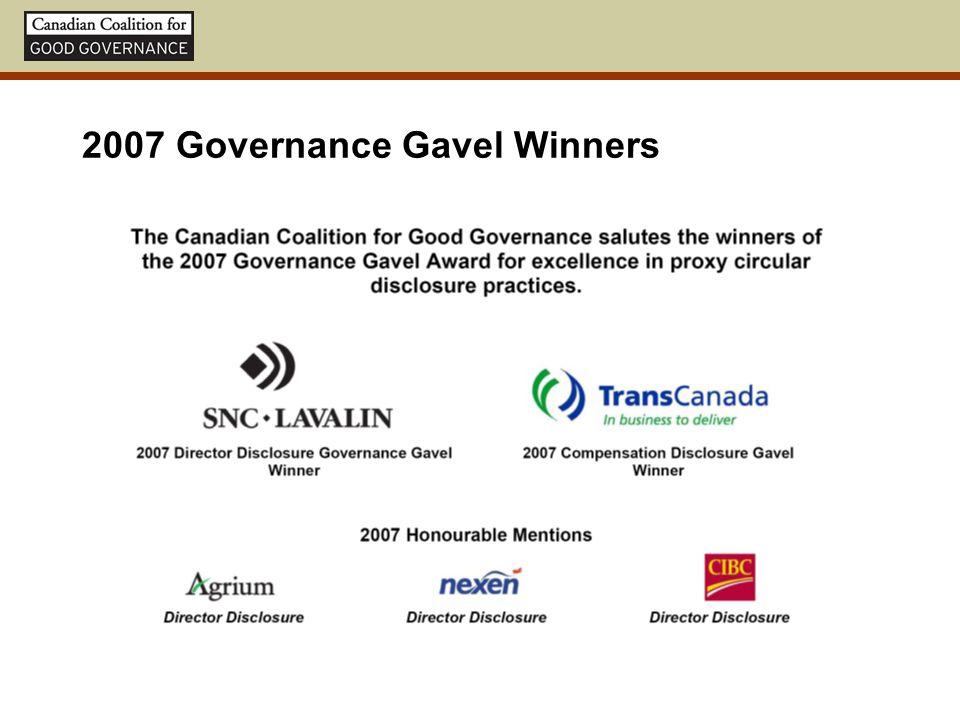 2007 Governance Gavel Winners