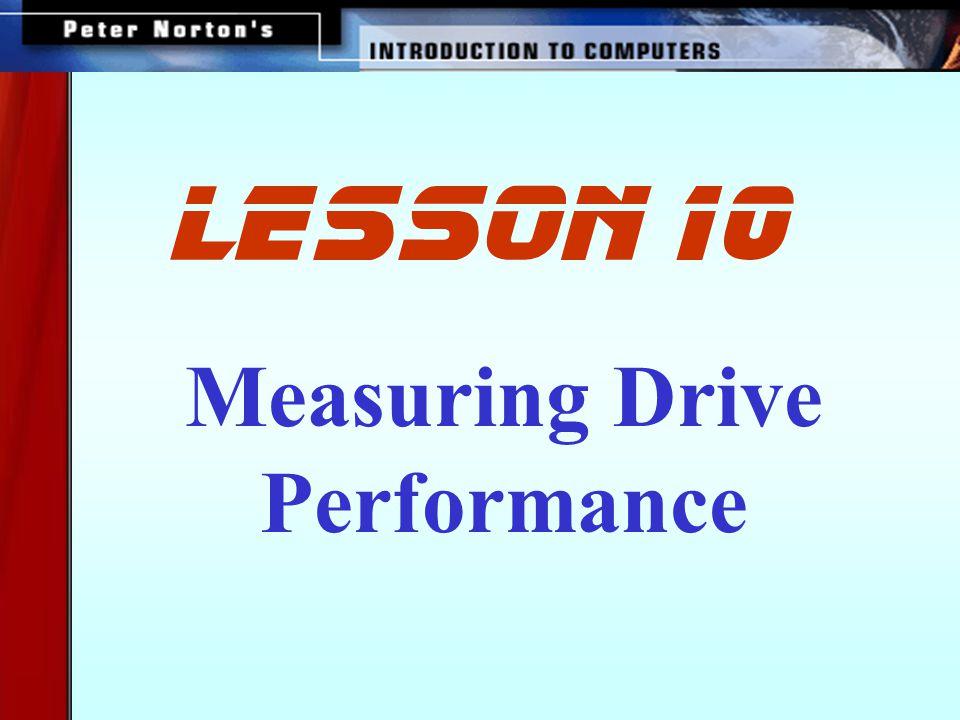 Measuring Drive Performance lesson 10