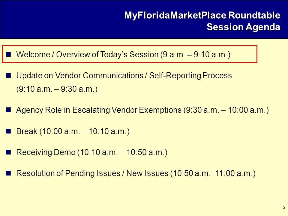 13 Vendor Registration Exemption Process