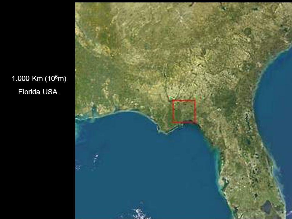1.000 Km (10 6 m) Florida USA.