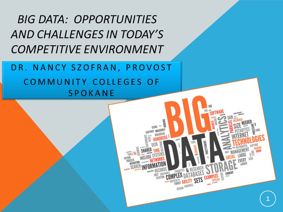 BIG DATA: OPPORTUNITIES AND CHALLENGES IN TODAY'S COMPETITIVE ENVIRONMENT DR.