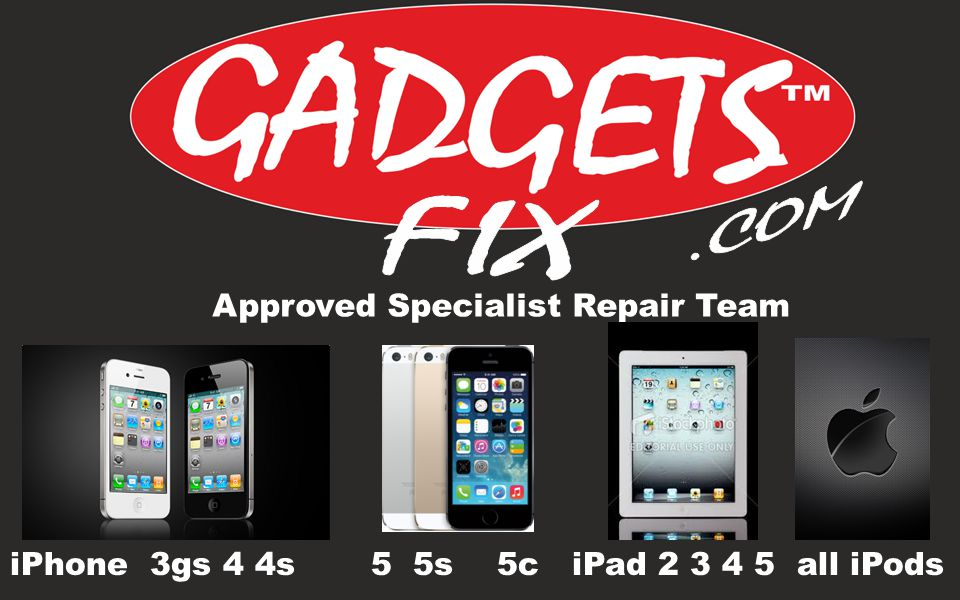 Approved Specialist Repair Team iPhone 3gs 4 4s 5 5s 5c iPad 2 3 4 5 all iPods