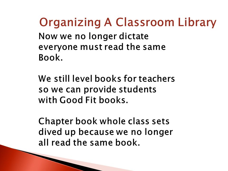 Now we no longer dictate everyone must read the same Book.