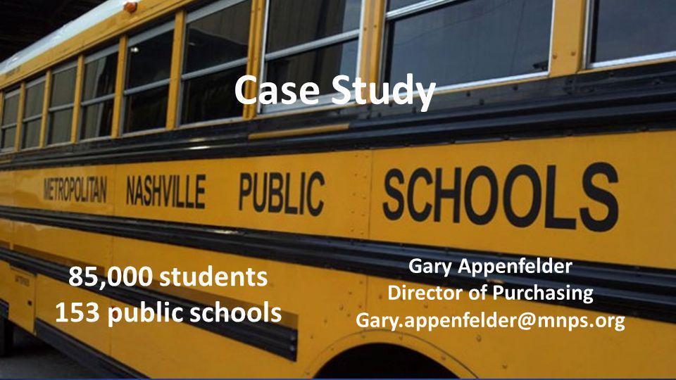 Metro Nashville Public Schools – Case Study DOCUSIGN CONFIDENTIAL6 85,000 students 153 public schools Case Study Gary Appenfelder Director of Purchasi