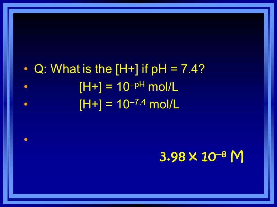What if you're given a pH that is not a whole number.