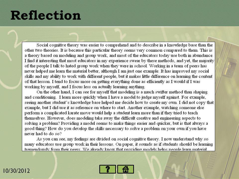 Observation Checklist 10/30/2012