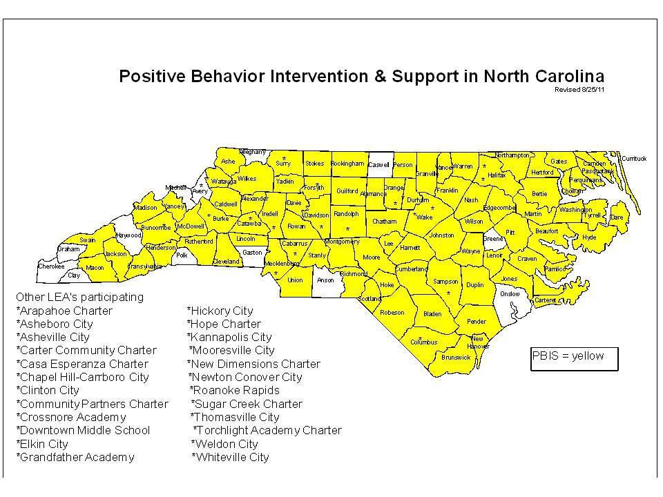 NC Schools Participating in PBIS Initiative 14