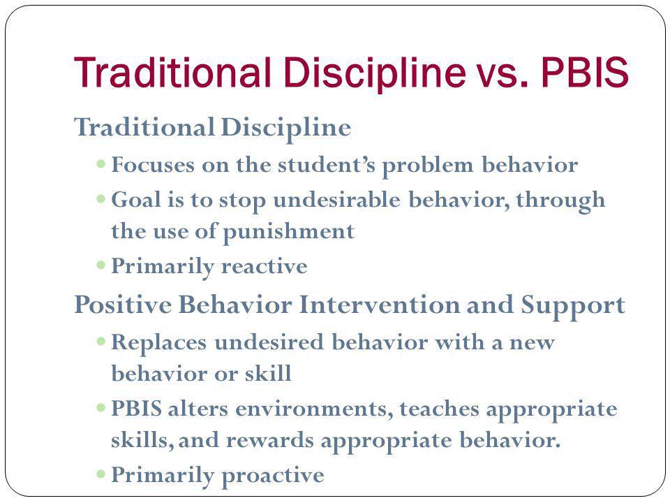 Traditional Discipline vs.