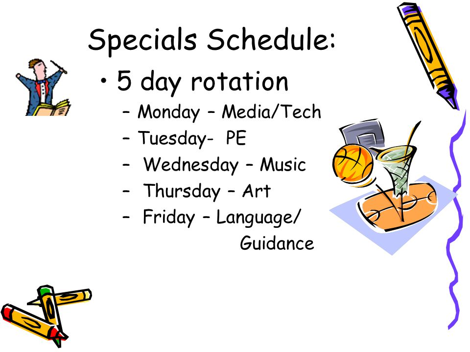 Daily Schedule 8:30 – 9:15 Guided Reading 9:15Snack 9:15-10:00 Teacher Directed Reading 10:00-10:20 Writing 10:20–11:05 Encore 11:20 -11:50 Lunch 12:00 –12:20 Writing (continued) 12:20–1:20 Math 1:20 – 1:50 Recess 1:50-2:40Social Studies/Science 2:40 – Pack up 2:40 Dismissal