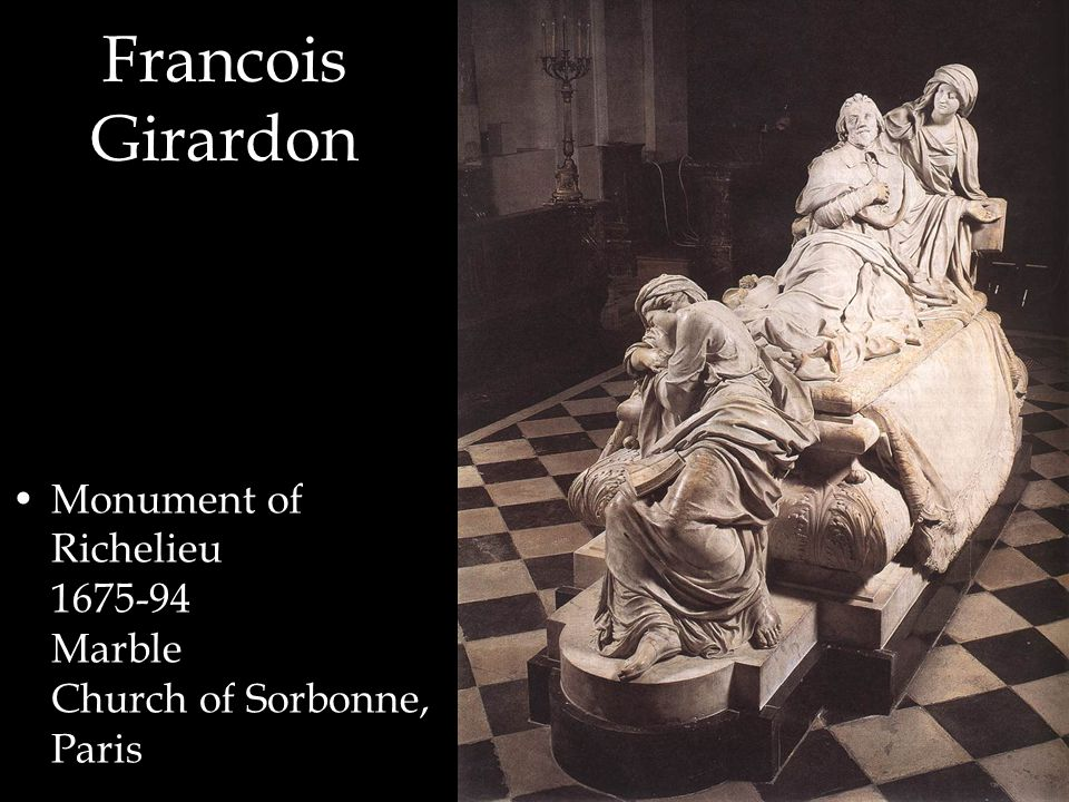 Monument of Richelieu 1675-94 Marble Church of Sorbonne, Paris