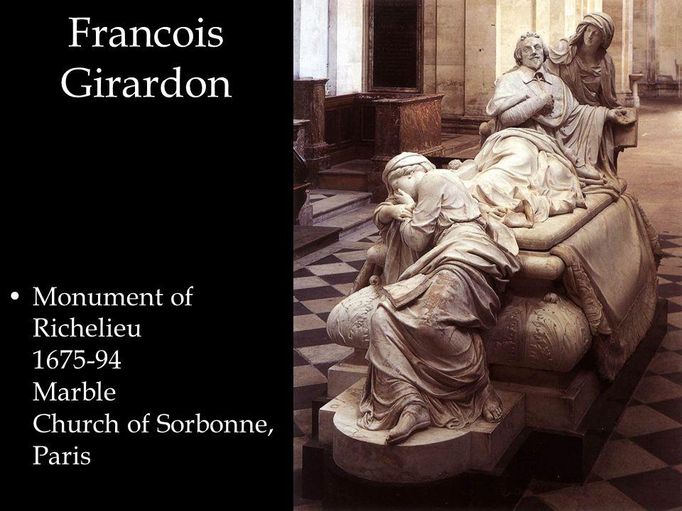 Francois Girardon Monument of Richelieu 1675-94 Marble Church of Sorbonne, Paris