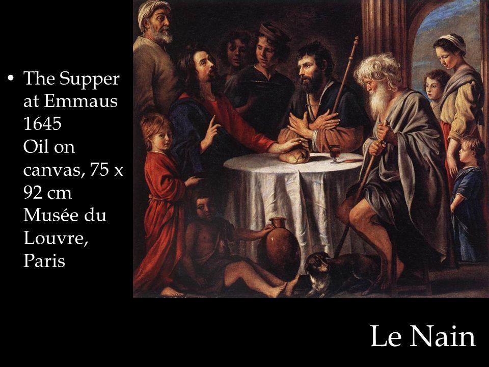 The Supper at Emmaus 1645 Oil on canvas, 75 x 92 cm Musée du Louvre, Paris
