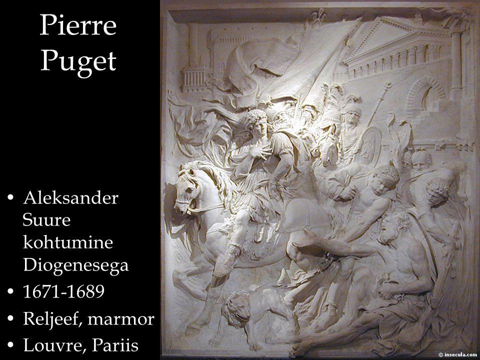 Pierre Puget Aleksander Suure kohtumine Diogenesega 1671-1689 Reljeef, marmor Louvre, Pariis