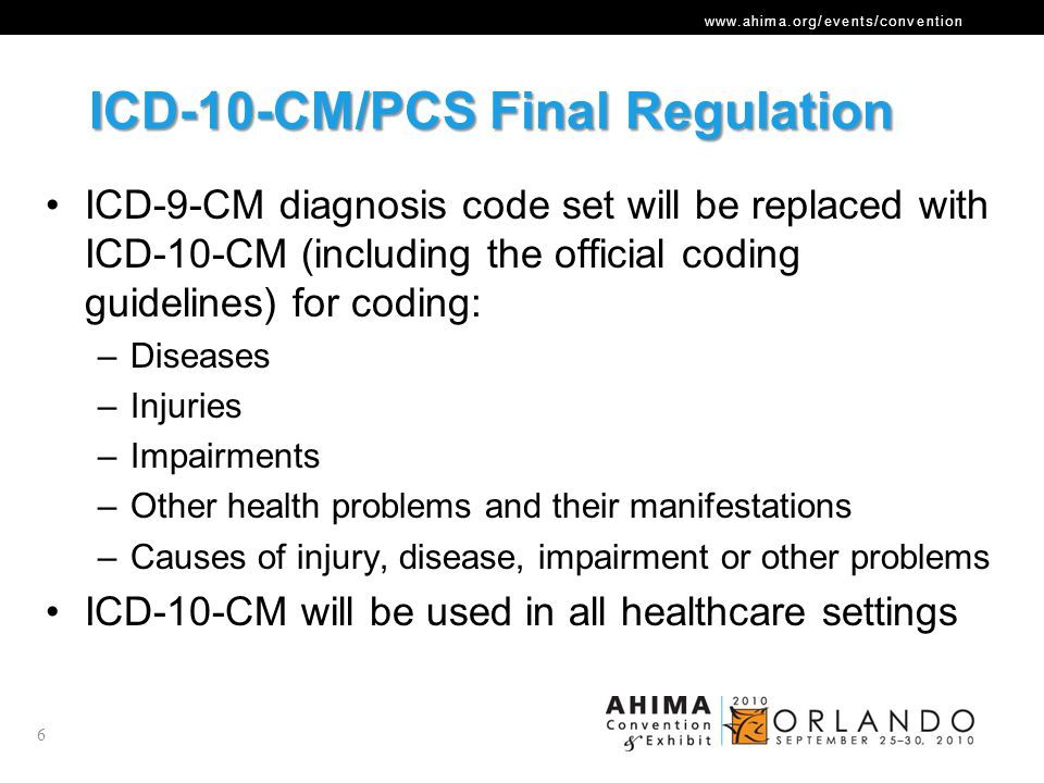 www.ahima.org/events/convention ICD-10- CM Similarities 17