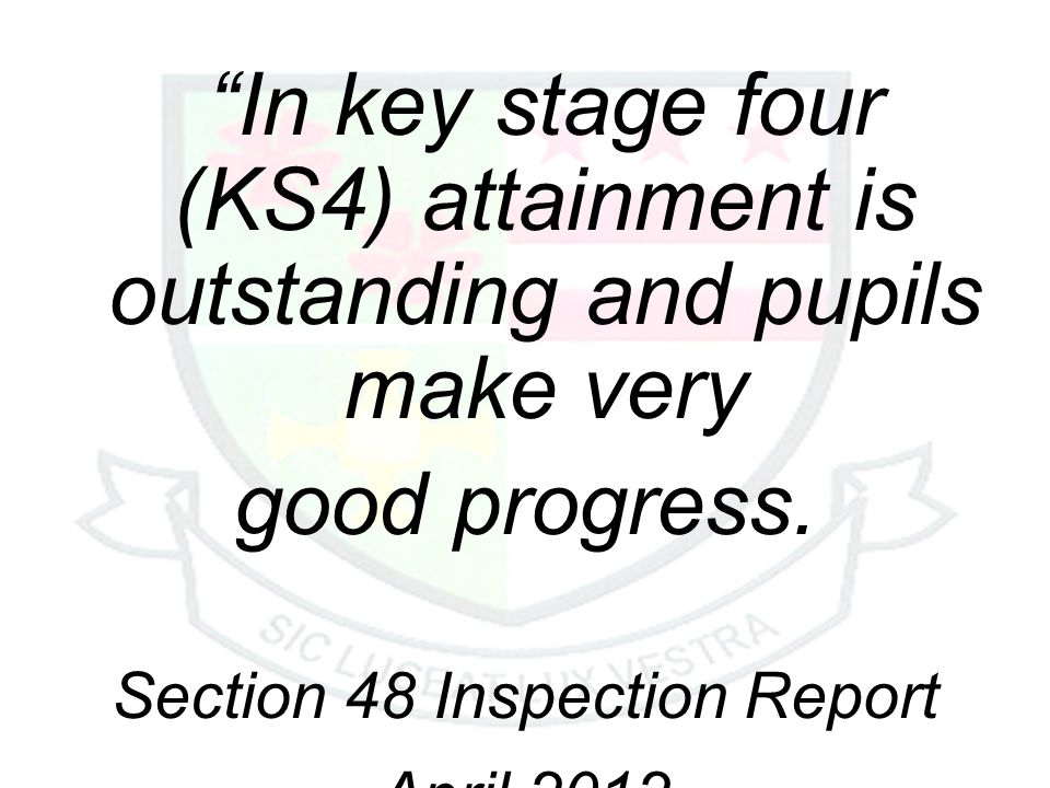 In key stage four (KS4) attainment is outstanding and pupils make very good progress.