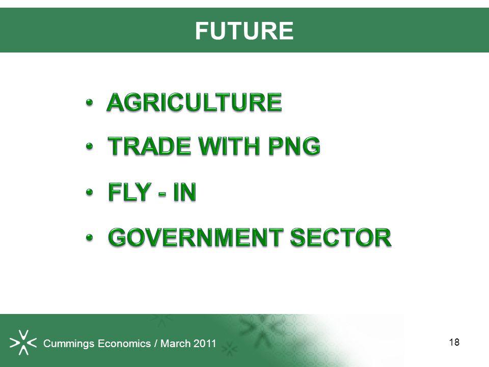 18 FUTURE Cummings Economics / March 2011