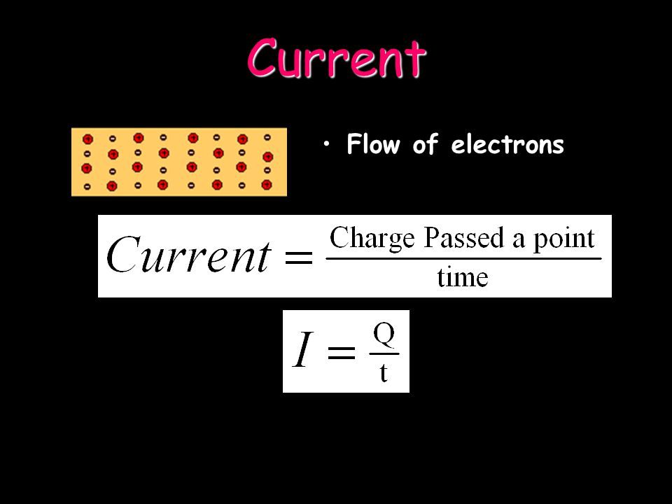 Electrons are flowing from the negative to positive side of the battery through the wires Note current moves from positive to negative, however electr
