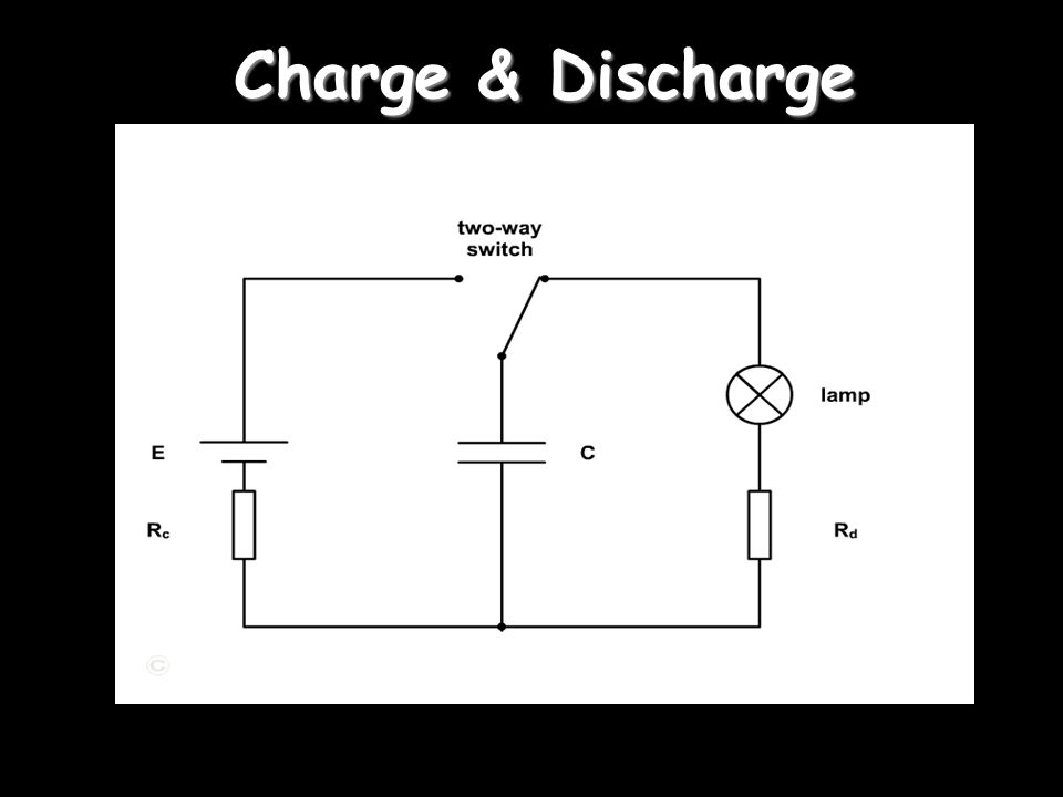 capacitor discharge electrons