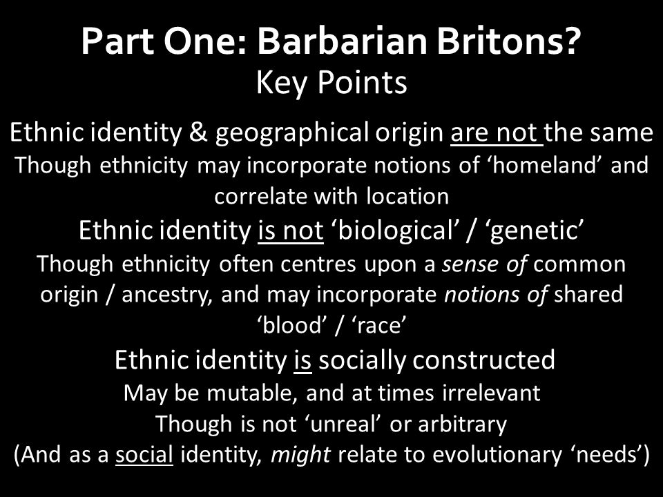 'National' identity in the West C5– 7 (nation: political & geographical, not biological) Natione: 'people' Interchangeable with gene (pl.