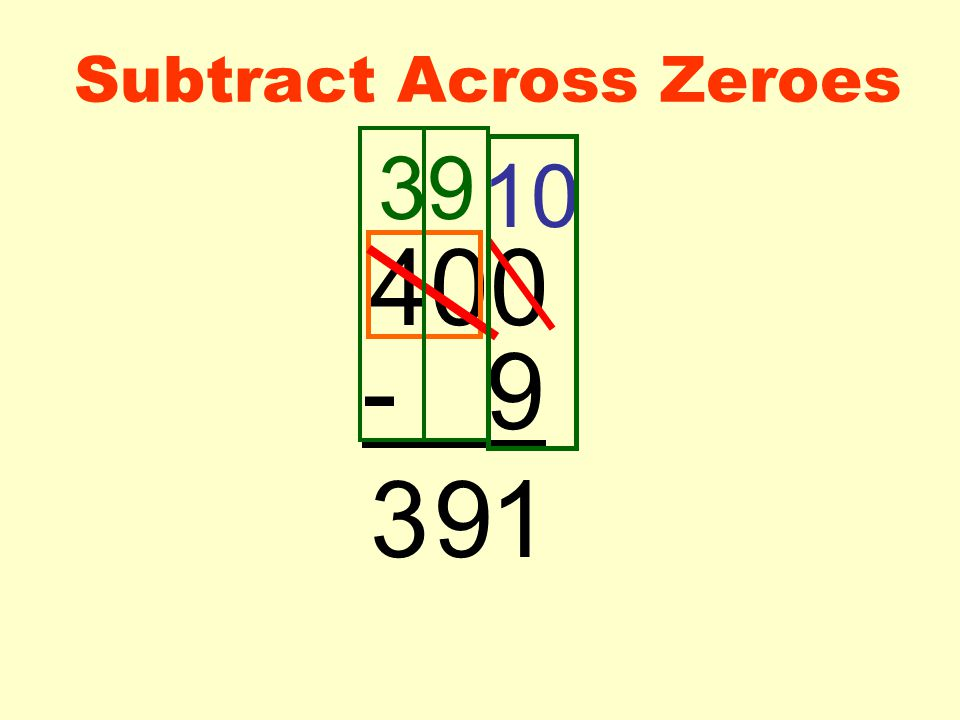 Subtract Across Zeroes 400 - 9 39 10 193