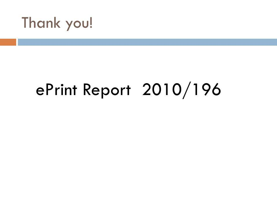 Thank you! ePrint Report 2010/196