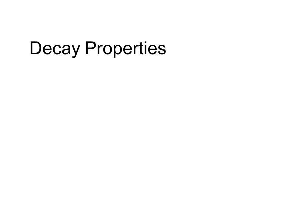 Decay Properties