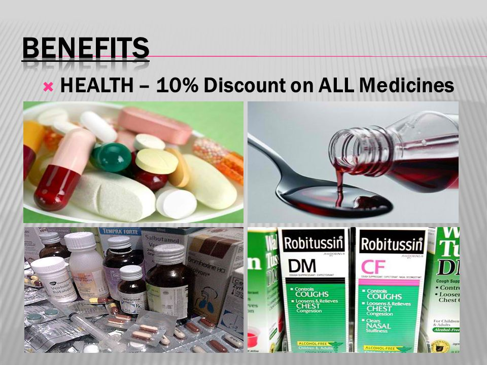  HEALTH – 10% Discount on ALL Medicines