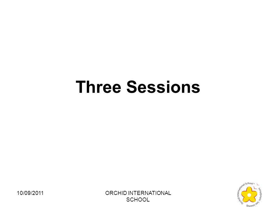 How many sessions of the Lok Sabha take place in a year: 1.Two 2.Three 3.Four 4.Five 10/09/2011ORCHID INTERNATIONAL SCHOOL