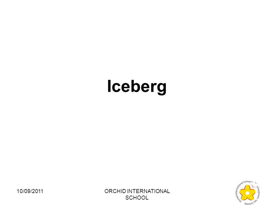 Which of the following things is NOT found in India? 1.Iceberg 2.Glacier 3.Lagoon 4.Desert 10/09/2011ORCHID INTERNATIONAL SCHOOL