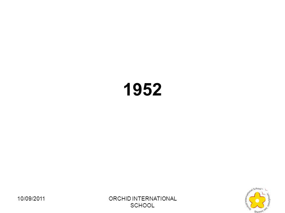 The First Lok Sabha commenced on which date: 1.1947 2.1952 3.1957 4.1962 10/09/2011ORCHID INTERNATIONAL SCHOOL