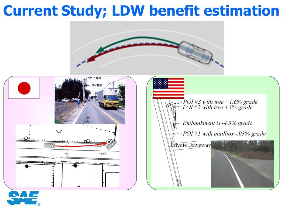 Current Study; LDW benefit estimation