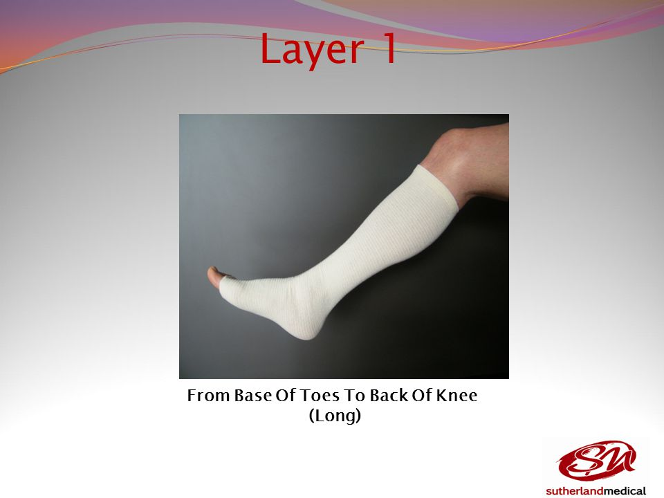 Layer 1 From Base Of Toes To Back Of Knee (Long)