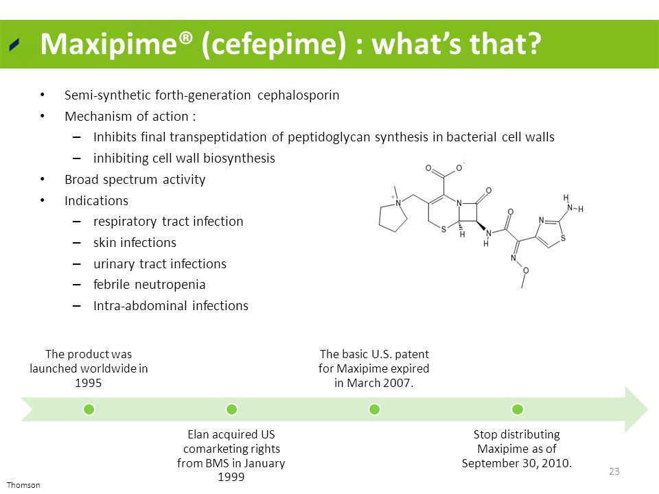 Maxipime® (cefepime) : what's that.