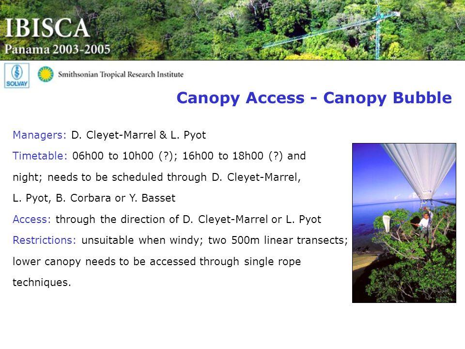 Canopy Access - Canopy Bubble Managers: D. Cleyet-Marrel & L.