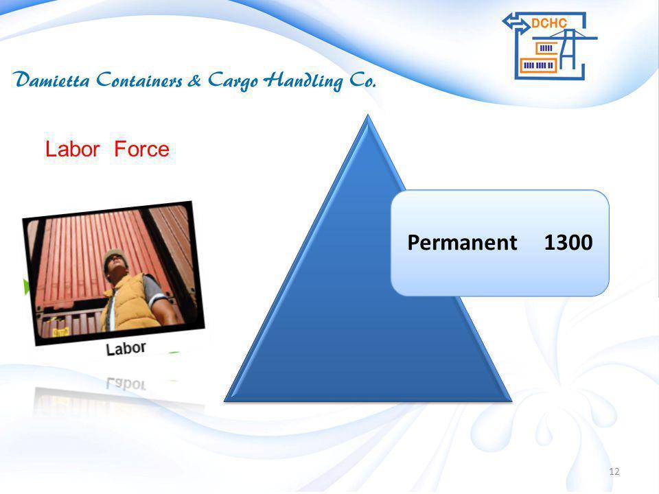 12 Permanent 1300 Labor Force