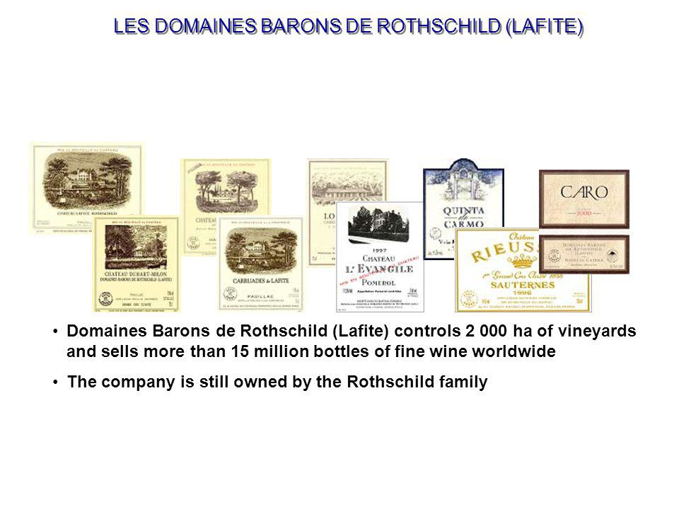 Domaines Barons de Rothschild Distribution, a negociant company 100% owned by Domaines Barons de Rothschild (Lafite), sells directly to foreign importers and VIP clients a series of specially selected wines from Bordeaux appellations the 'Collection Barons de Rothschild (Lafite)': Réserve Spéciale Bordeaux, Médoc & Pauillac Légende R Bordeaux, Médoc & Pauillac Saga R Bordeaux, Médoc & Pauillac COLLECTION BARON DE ROTHSCHILD (LAFITE)