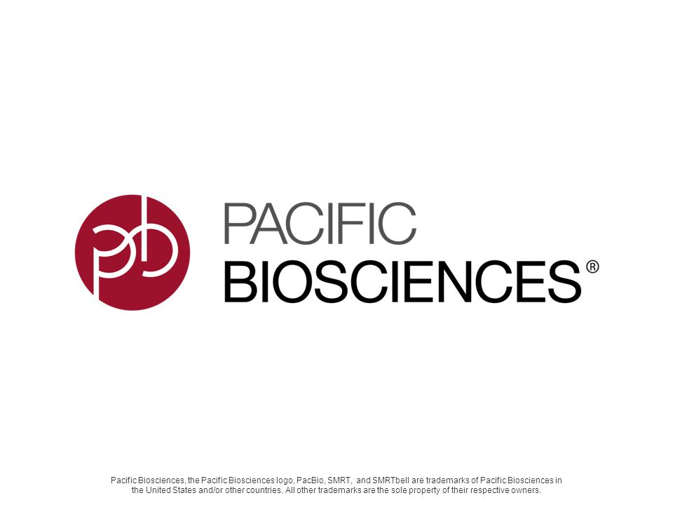 Pacific Biosciences, the Pacific Biosciences logo, PacBio, SMRT, and SMRTbell are trademarks of Pacific Biosciences in the United States and/or other