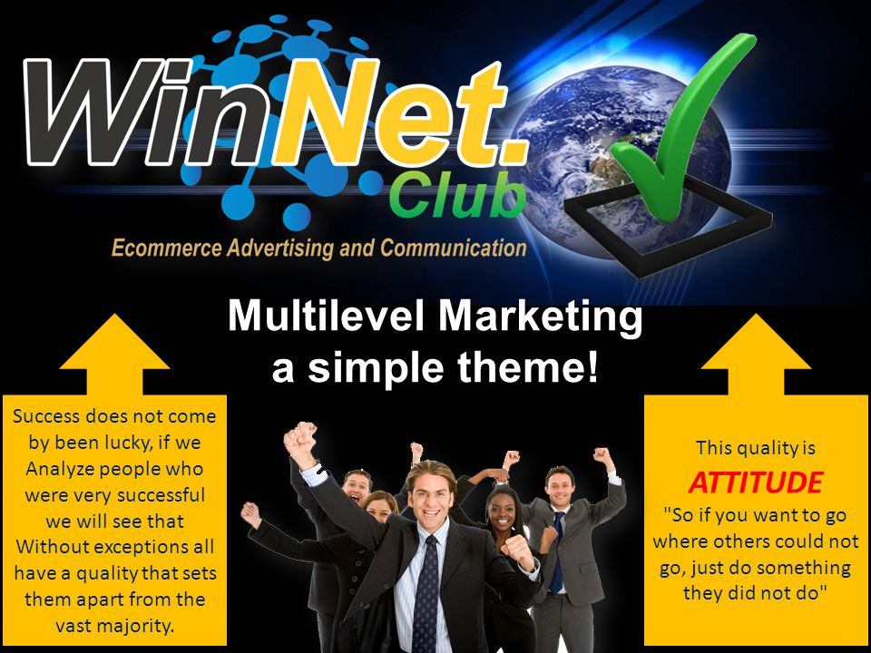Multilevel Marketing a simple theme.