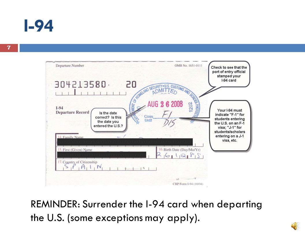 Visa Stamp F-1 or J-1 6