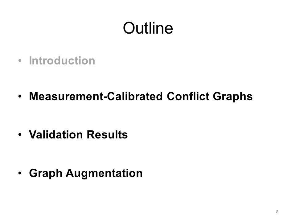 Outline Introduction Measurement-Calibrated Conflict Graphs Validation Results Graph Augmentation 8