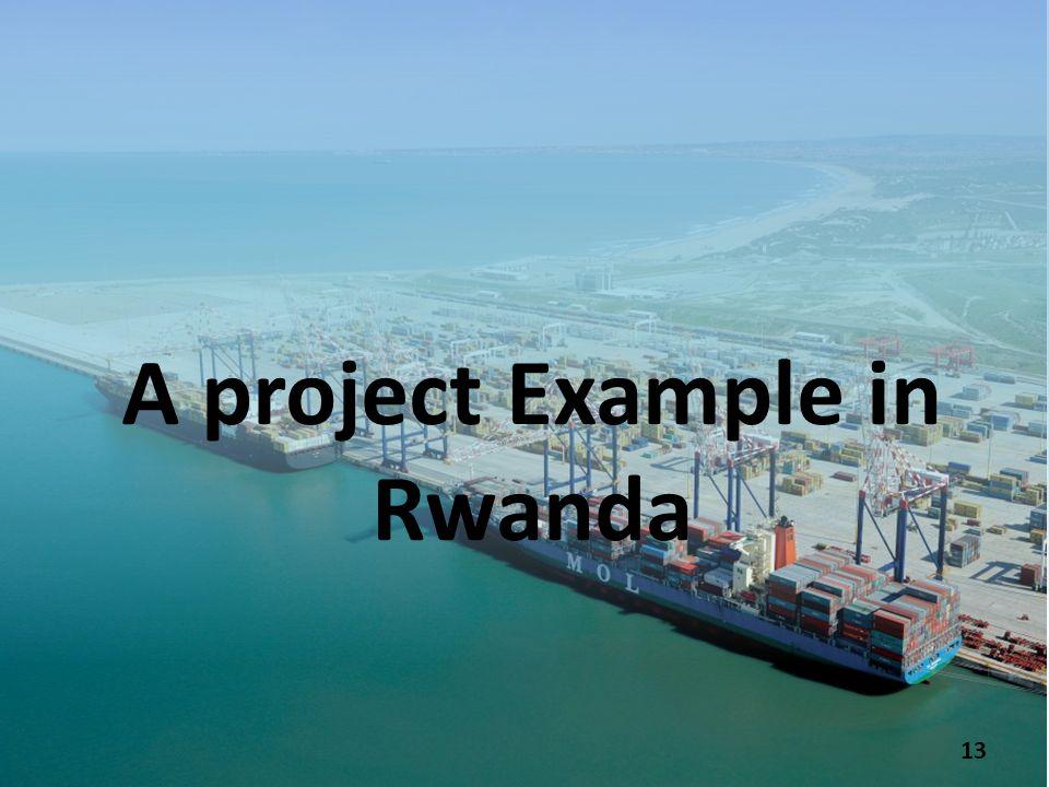 A project Example in Rwanda 13