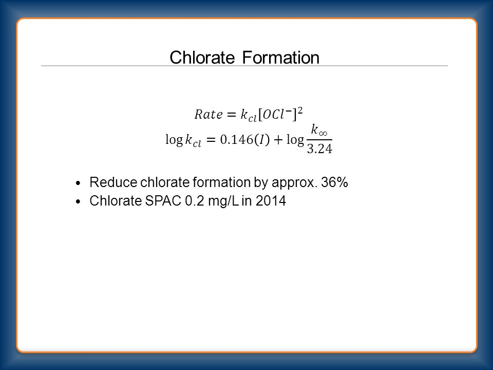 Chlorate Formation