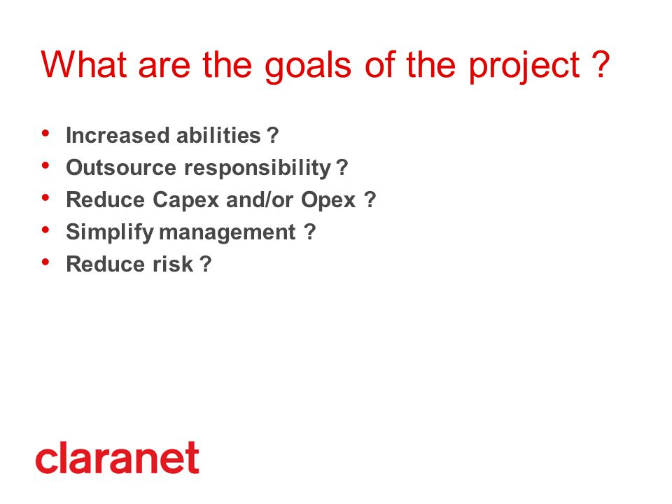 What are the goals of the project .Increased abilities .