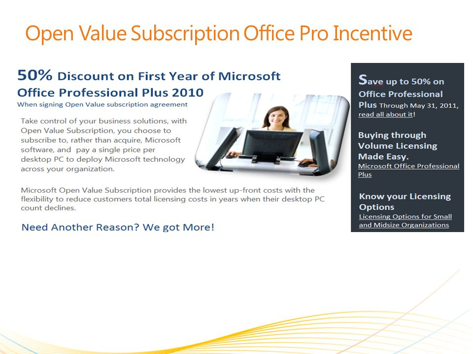 Open Value Subscription Office Pro Incentive