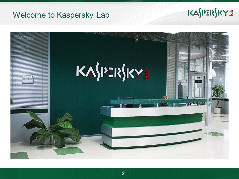 Click to edit Master title style Click to edit Master text styles –Second level Third level –Fourth level »Fifth level June 10 th, 2009Event details (title, place) Welcome to Kaspersky Lab 2