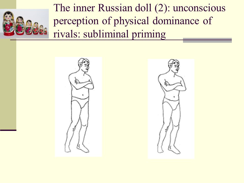 The inner Russian doll (2): unconscious perception of physical dominance of rivals: subliminal priming