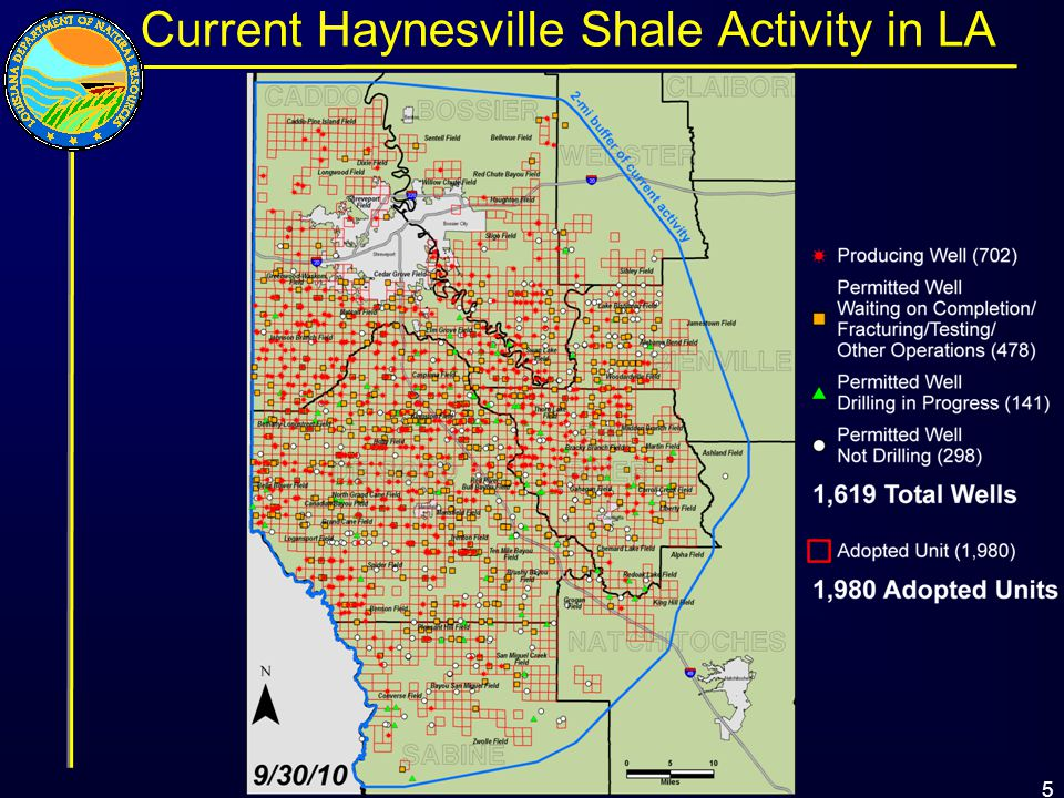 5 Current Haynesville Shale Activity in LA