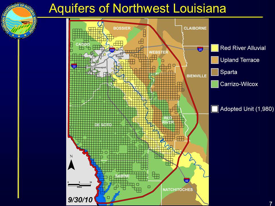 7 Aquifers of Northwest Louisiana